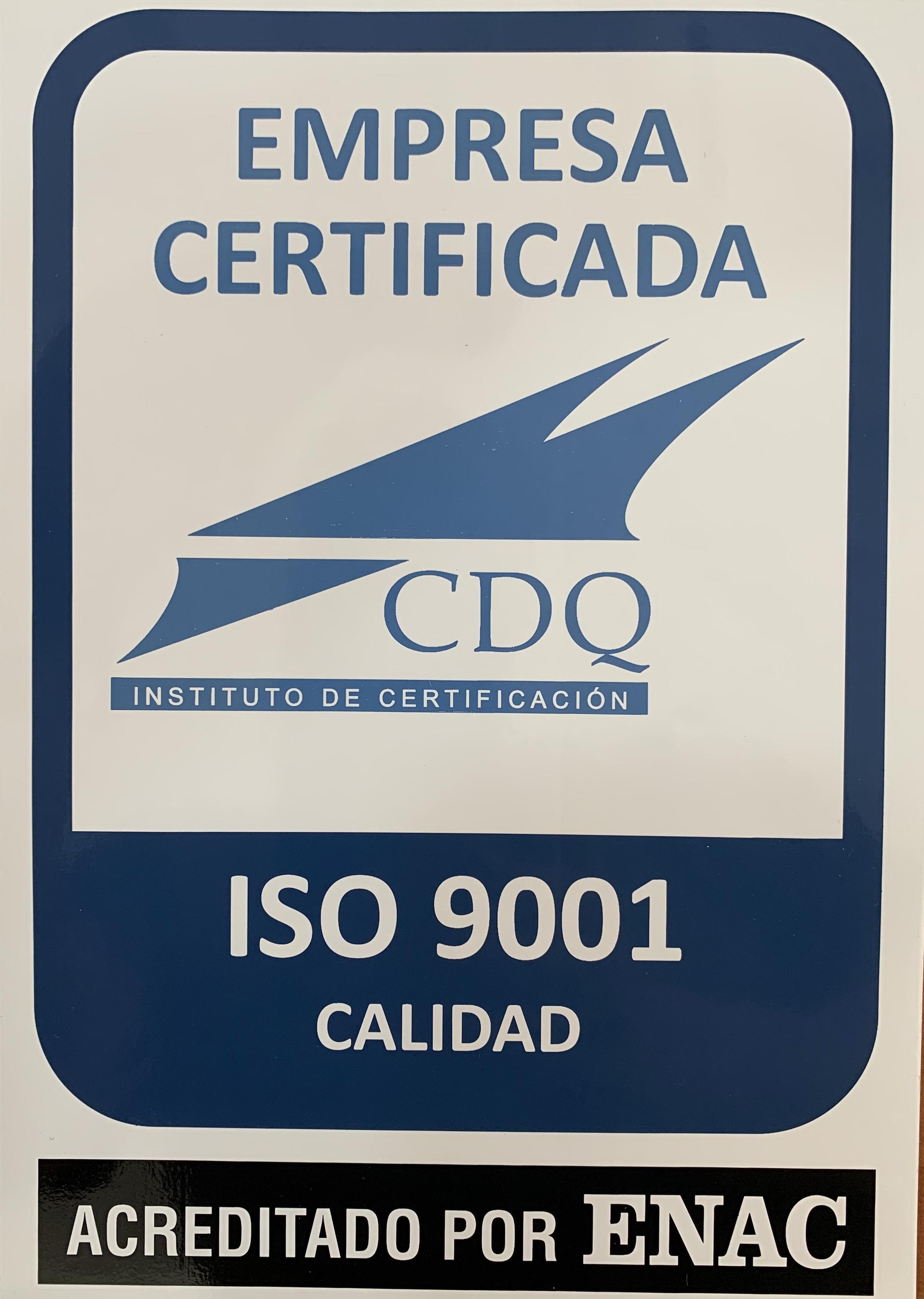 Certificado Calidad ISO 9001